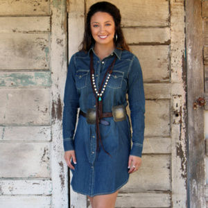 Cowgirl Justice Snap Shirt Dress